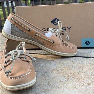 Sperry's Light Brown Firefish Core Linen Shoes